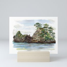 Whangapoua island , Coromandel peninsula , New Zealand Mini Art Print