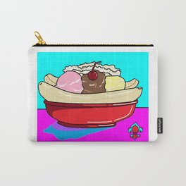 A Delicious Banana Split on a Hot Summer Day Carry-All Pouch