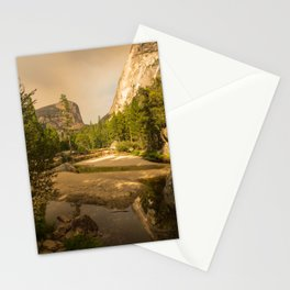 Mirror Lake Yosemite at Dusk Stationery Cards