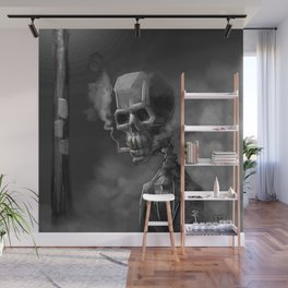 Noir Skeleton Digital Illustration Wall Mural