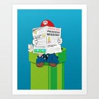 mario Art Prints featuring Mario by Altay