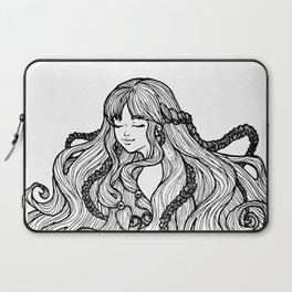 The Girl with the Braids Laptop Sleeve