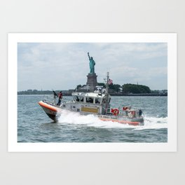 Coast Guard and Liberty Art Print