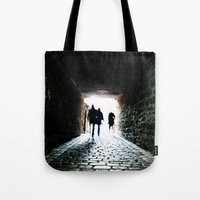 silhouette Tote Bags featuring Silhouette by Kim Ramage