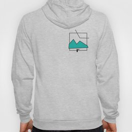 ABSTRACT MOUNTAIN LINES Hoody