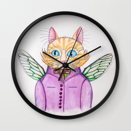 Colonel Ginger Cat Wall Clock