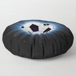 Spacey Soccer Ball Floor Pillow
