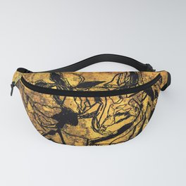 Crushed Skull Drawing Fanny Pack