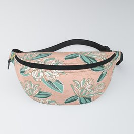 Dahlia -muted colors Fanny Pack
