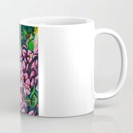 "Fine Art Print, Oil painting, flowers painting,purple,floral wall decor,flowers art""Bougainvillea""  Coffee Mug"