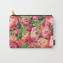 Pretty Peonies Carry-All Pouch