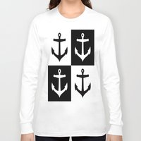 anchors Long Sleeve T-shirts featuring Anchors Aweigh by floridagurl