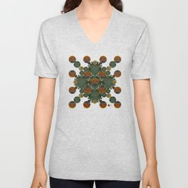 """Glass candy Mosaic (caramel pattern)"" Unisex V-Neck"