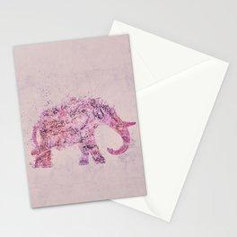 Pink Elephant Mixed Media Art Stationery Cards