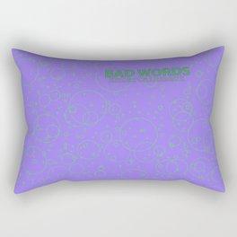 Bad Purple Bubbles Rectangular Pillow