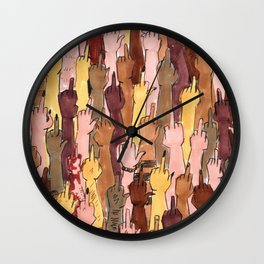 angry people Wall Clock