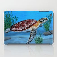 sea turtle iPad Cases featuring Sea turtle  by maggs326