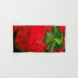 Strawberry Fruit Art Deco Hand & Bath Towel