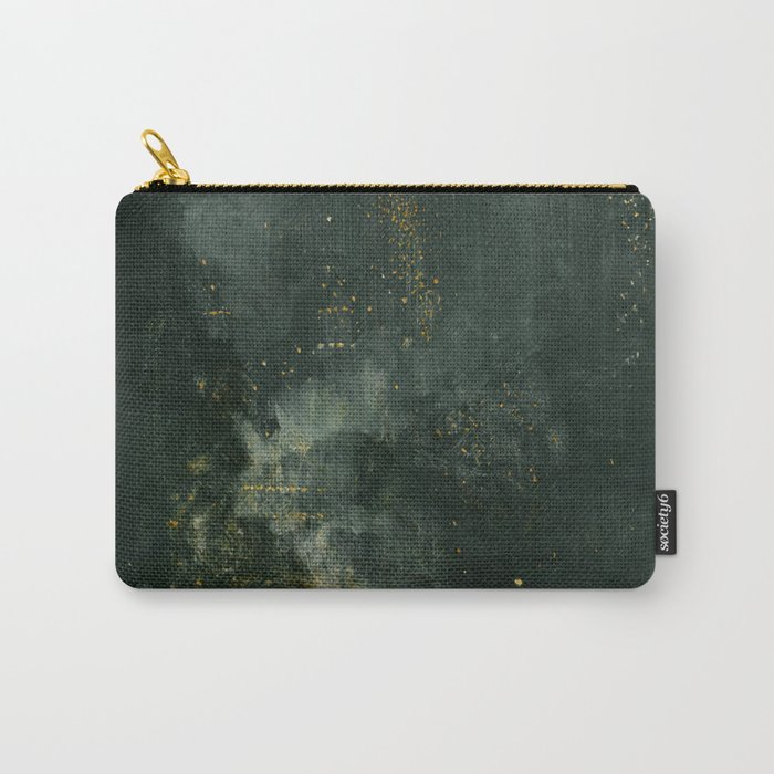 James Abbott McNeill Whistler - Nocturne in Black and Gold Carry-All Pouch