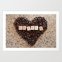 Love Coffee Art Print