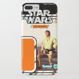 Luke Skywalker (farmboy) Vintage Action Figure Card iPhone Case