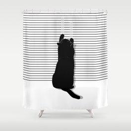 Cat Scratch Shower Curtain