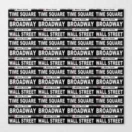 Street Sign Scenes of New York Canvas Print
