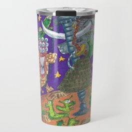 Alien May Day & Fire  Frogs Travel Mug