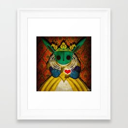 Bunny Queen Framed Art Print