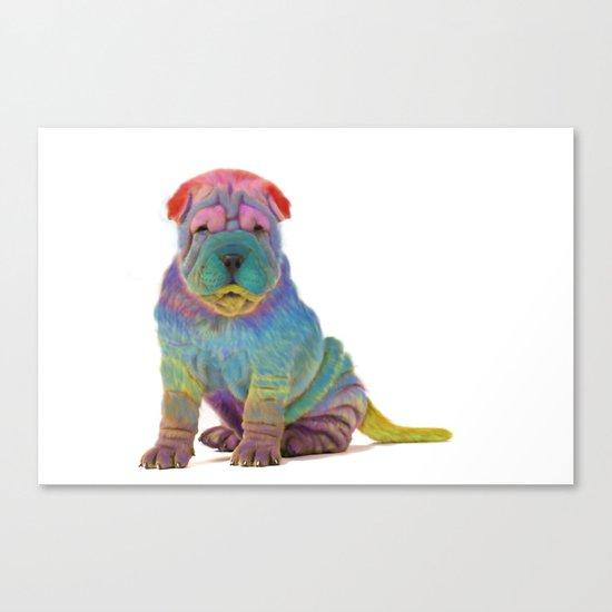 Colorful Sharpei Canvas Print