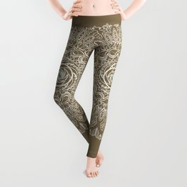 Ecru Mandala Leggings
