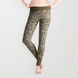 Ecru Mandala Leggings