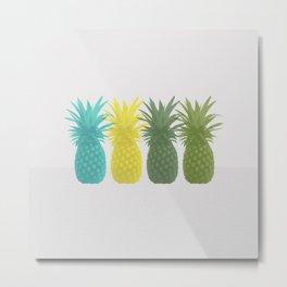Overlapping Pineapples Metal Print