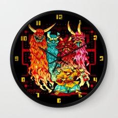 PAKKU-MAN Wall Clock