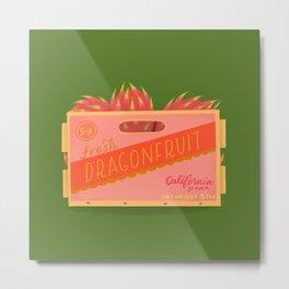 Dragonfruit Fruit Crate Metal Print