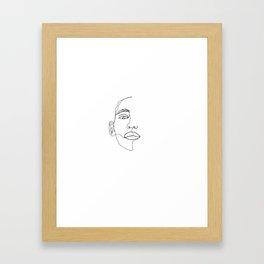 Face one line illustration - Hattie Framed Art Print