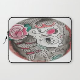Senorita skull Laptop Sleeve