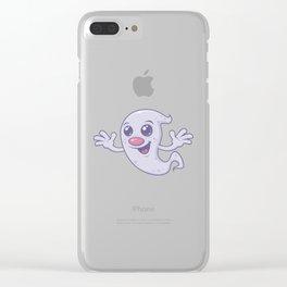 Cute Retro Ghost Clear iPhone Case