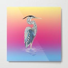 Great Blue Heron Totem Metal Print
