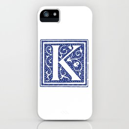 Floral Letter Type - Letter K iPhone Case