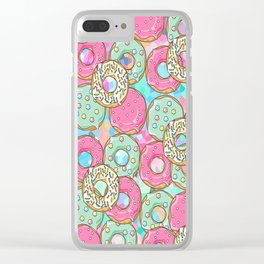 Sweet Donuts Cookies Clear iPhone Case