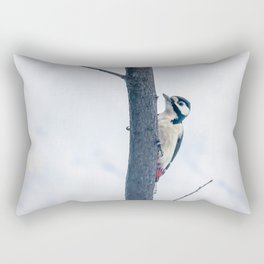 Great spotted woodpecker Rectangular Pillow
