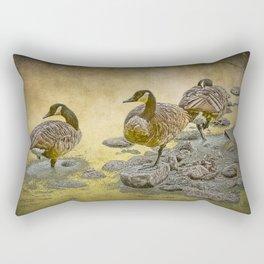 Canada Geese along the Shore Rectangular Pillow