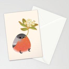 Eurasian bullfinch 2 Stationery Cards