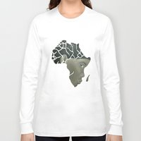 african Long Sleeve T-shirts featuring African Continent by ArtSchool