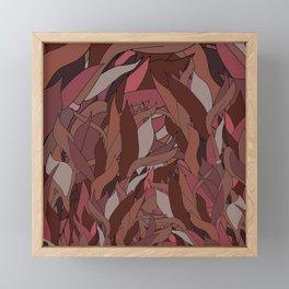 Seaweed in Rose Red Brown Framed Mini Art Print