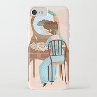 jane austen iPhone & iPod Cases featuring Jane Austen by Irena Freitas