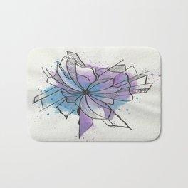 Explosion Flower Blue and Purple Bath Mat