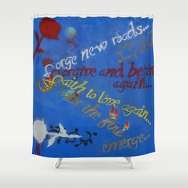 f words Shower Curtain