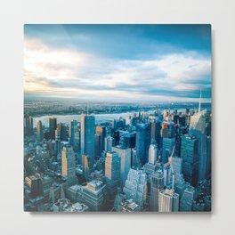 New York City Wallpaper Metal Print